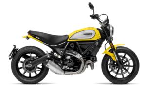ducati scrambler beginner motorcycle in standard configuration